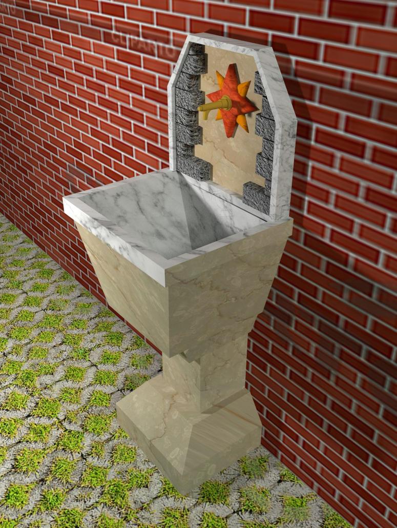 Lovely Italian fountain2 by StrangeSamuArt