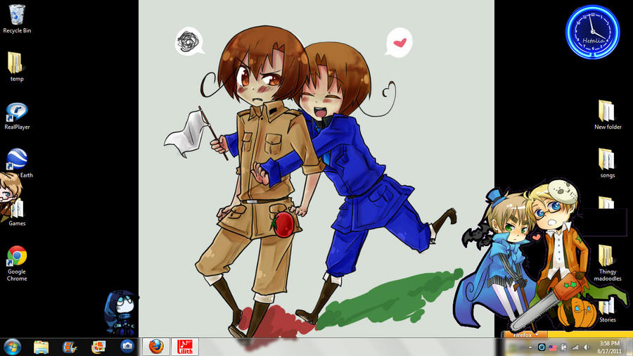 My Hetalia Filled Desktop by Haloconut