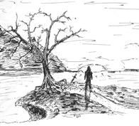 tree and man by RobMacIver