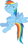 Rainbow Dash can't hold it back