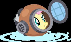 Fluttershy with diving helmet