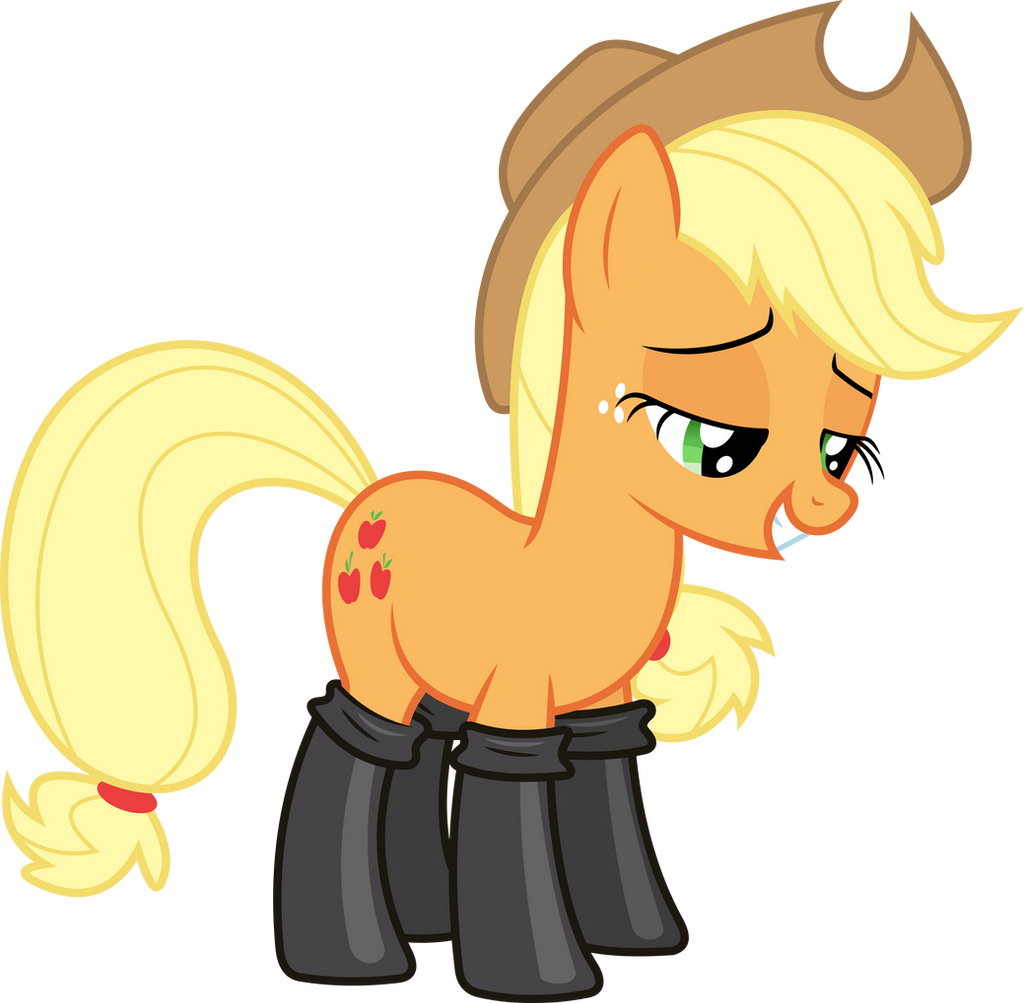 applejack_in_leather_boots_by_dasprid-d7