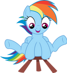 Rainbow Dash loves her stool