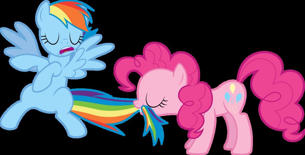 Pinkie Pie tastes the Rainbow by dasprid on DeviantArt