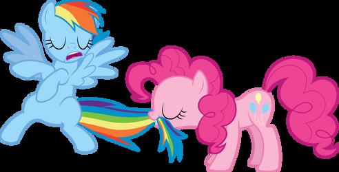 Pinkie Pie tastes the Rainbow by dasprid