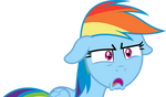 Very shocked Rainbow Dash