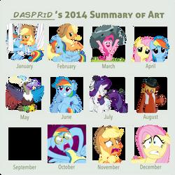 Summary of my 2014 art
