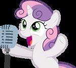 Sweetie Belle sings in public