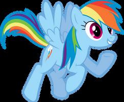Enthusiastic Rainbow Dash by dasprid