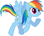 Enthusiastic Rainbow Dash