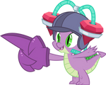 Spike with drinking helmet