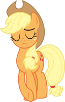 Applejack cries on the inside by dasprid
