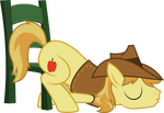 Braeburn sleeping on chair