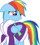 Rainbow Dash grieves for Tank