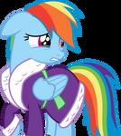 Rainbow Dash grieves for Tank