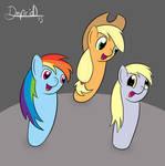 Three bowling gals