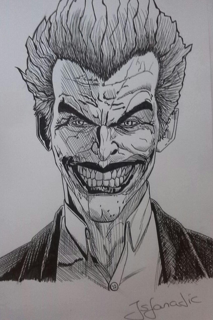 Joker Scribble Drawing : Joker arkham origins by jsfanatic on deviantart