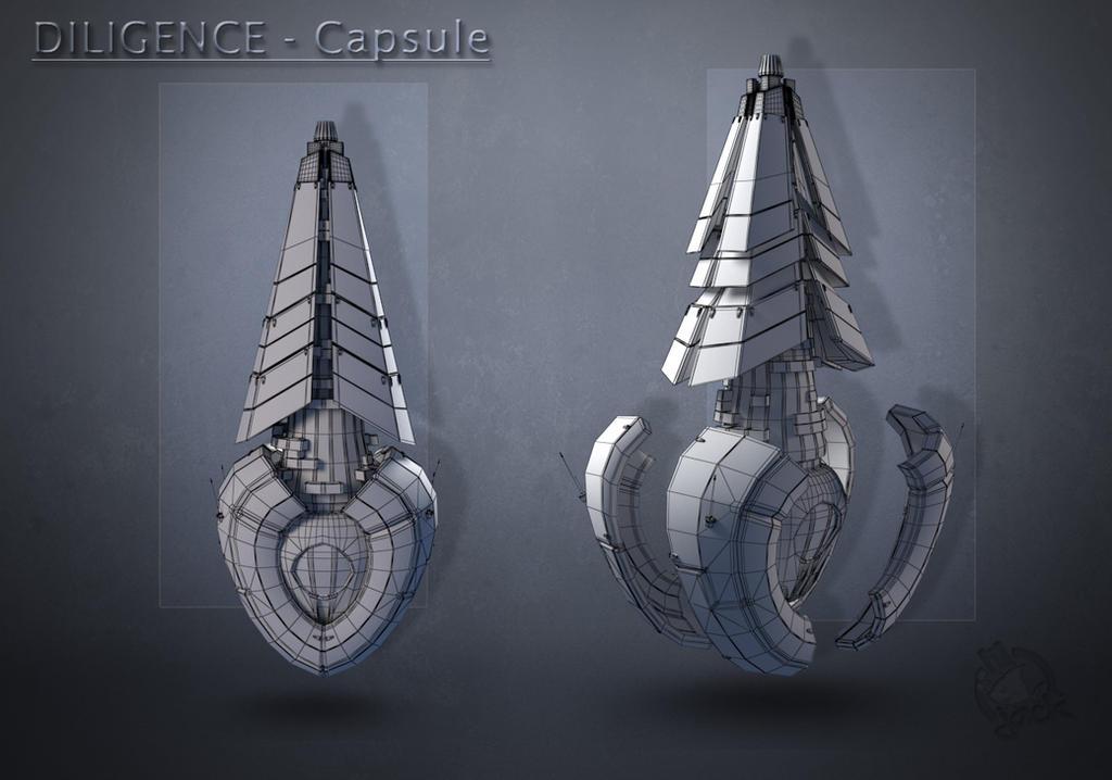 CAPSULE-2 Wireframe by liljack1