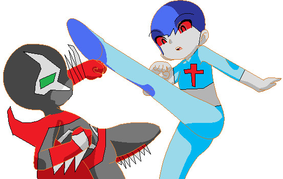 hellspawn shinji! Brother vs Sister. by imyouknowwho