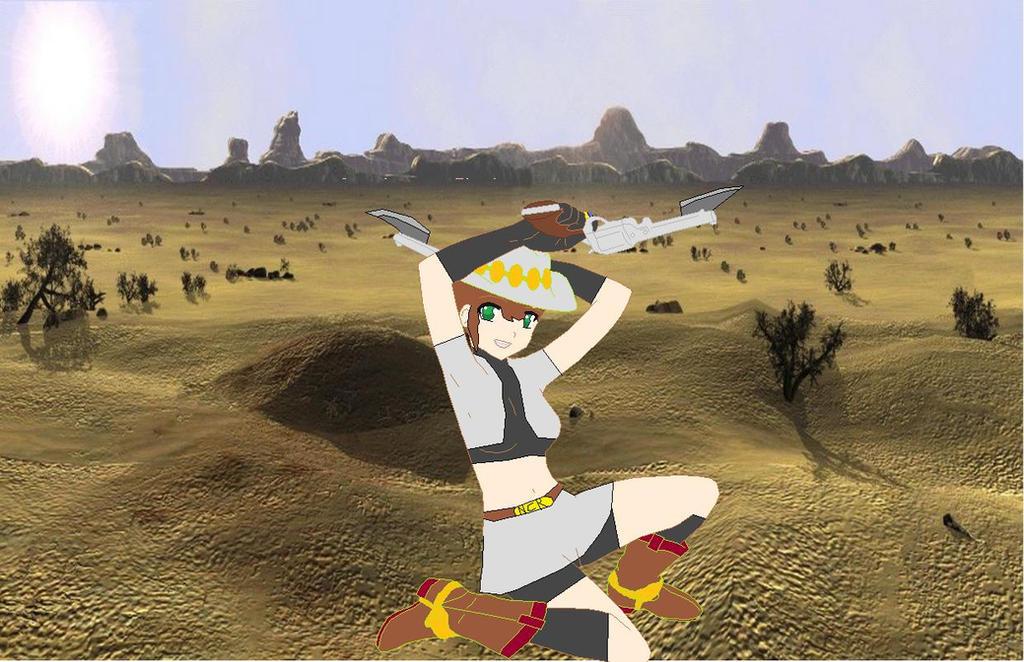 Yuuko Yoshi Cowgirl of the wasteland. by imyouknowwho