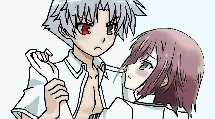 Yuuko and Quinx Akihisa! by imyouknowwho