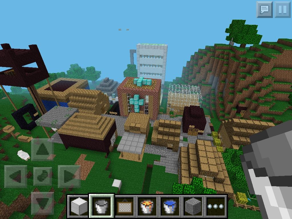 my minecraft pe village by weegeefan3 on deviantart