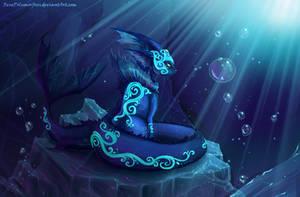 Crystal Swirls:The Water Muse by RenePolumorfous