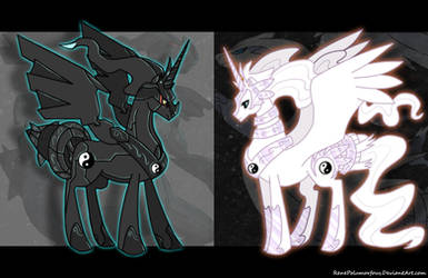 Pony White  Pony  Black by RenePolumorfous