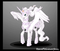 Reshiram Pony battle sprite by RenePolumorfous