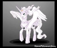Reshiram Pony battle sprite