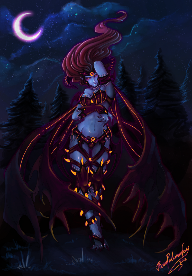 Demon Evelynn by RenePolumorfous