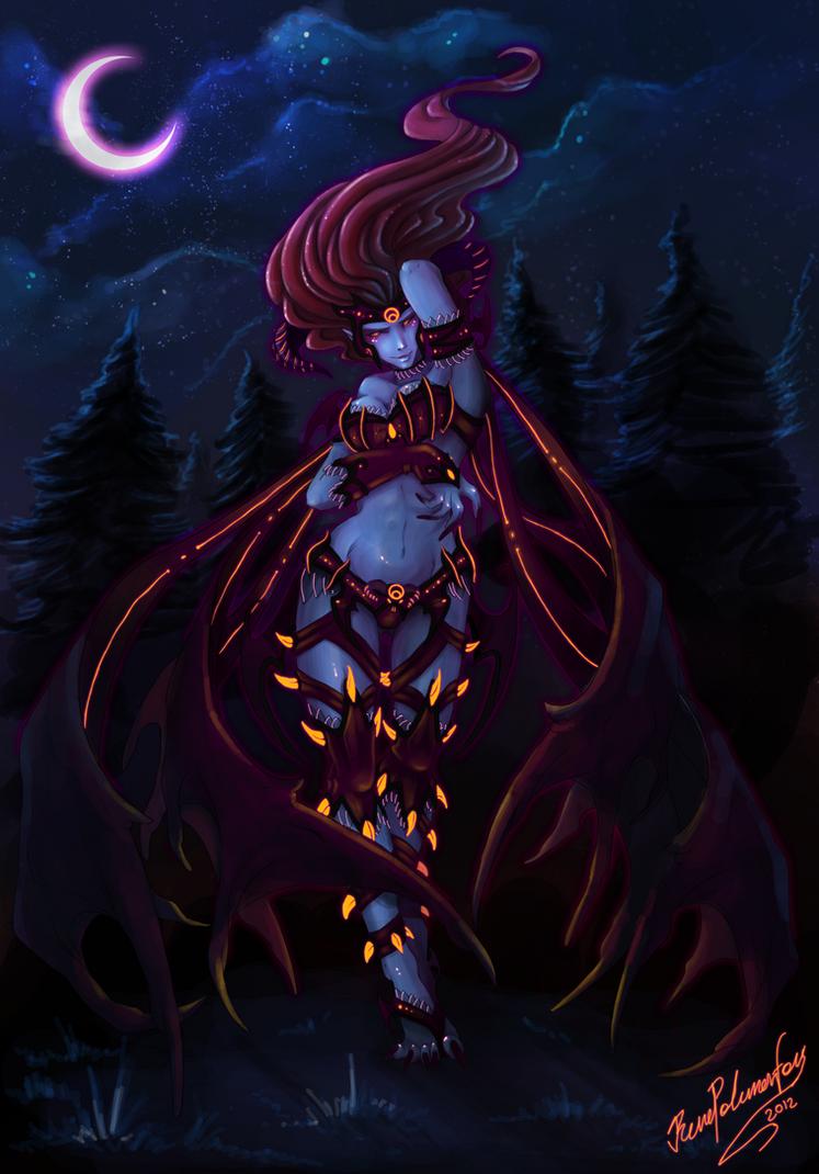 Demon Evelynn by RenePolumorfous