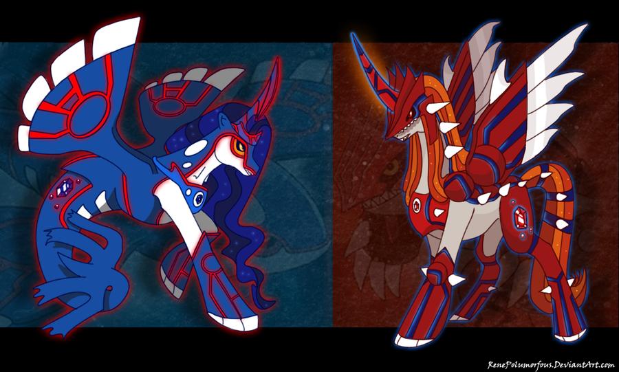 Pony Sapphire Pony Ruby by RenePolumorfous
