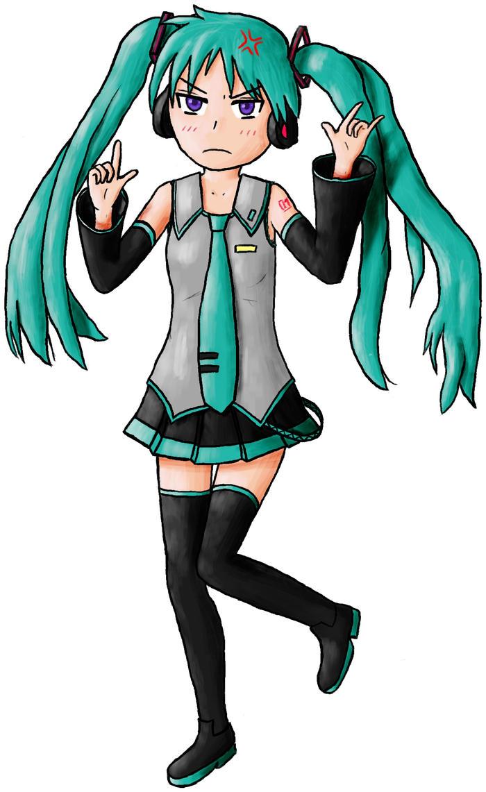 Kagamin as Miku Hatsune by Floflo81