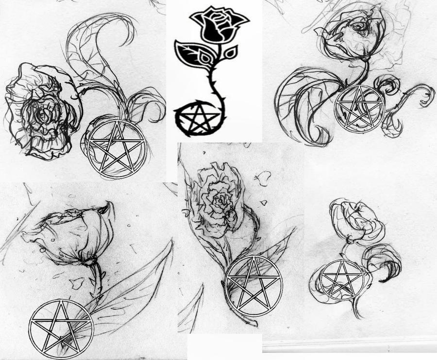 chiryuu roses with pentacle by ange76prkr on deviantart. Black Bedroom Furniture Sets. Home Design Ideas