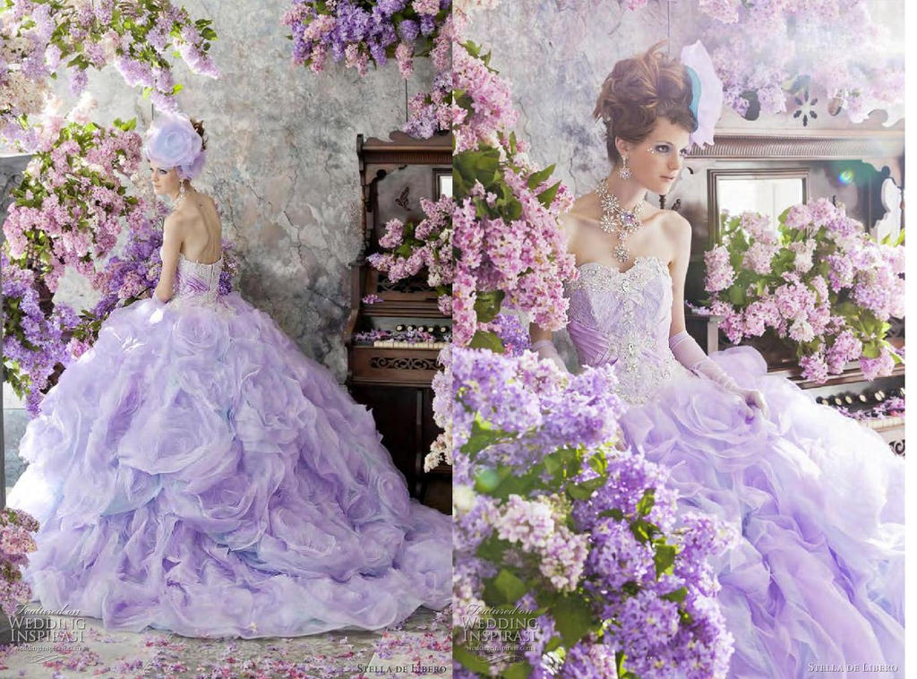 Stella De Libero Purple Wedding Dress 2012 By Ange76prkr