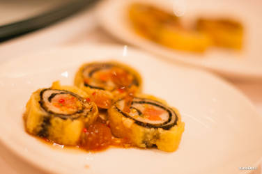 Steamed Chicken Vegetable Roll by KuroDot