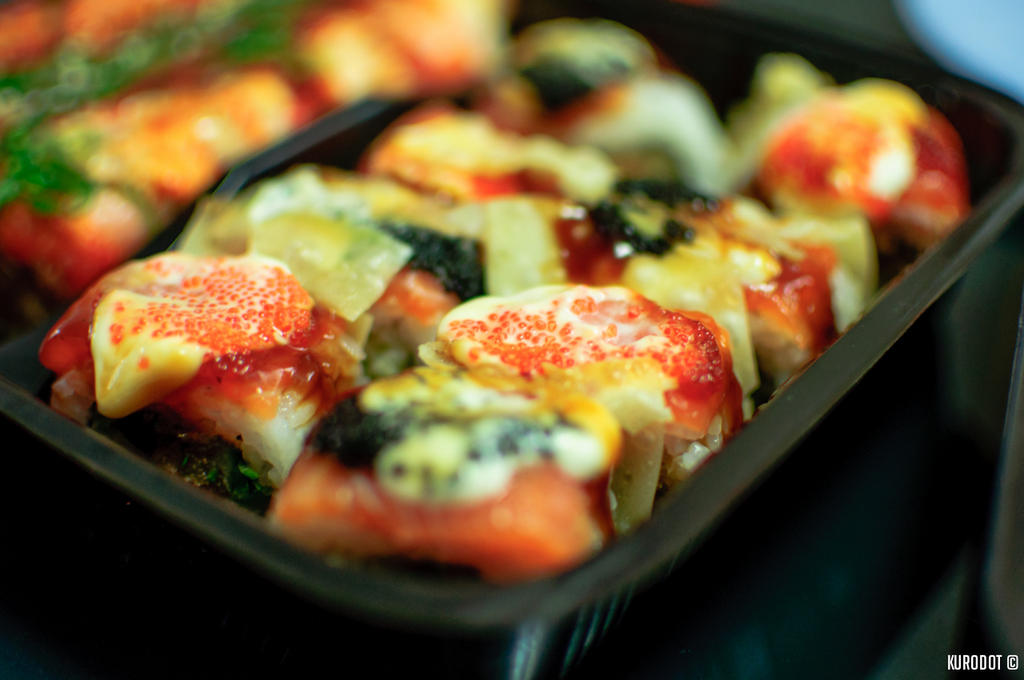 Crispy Cheesy Salmon Roll by KuroDot