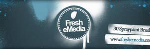 30 Spray Paint PS Brushes by freshemedia