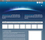 Space Web Template PSD