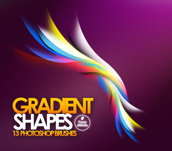 Gradient Shape Brushes by freshemedia