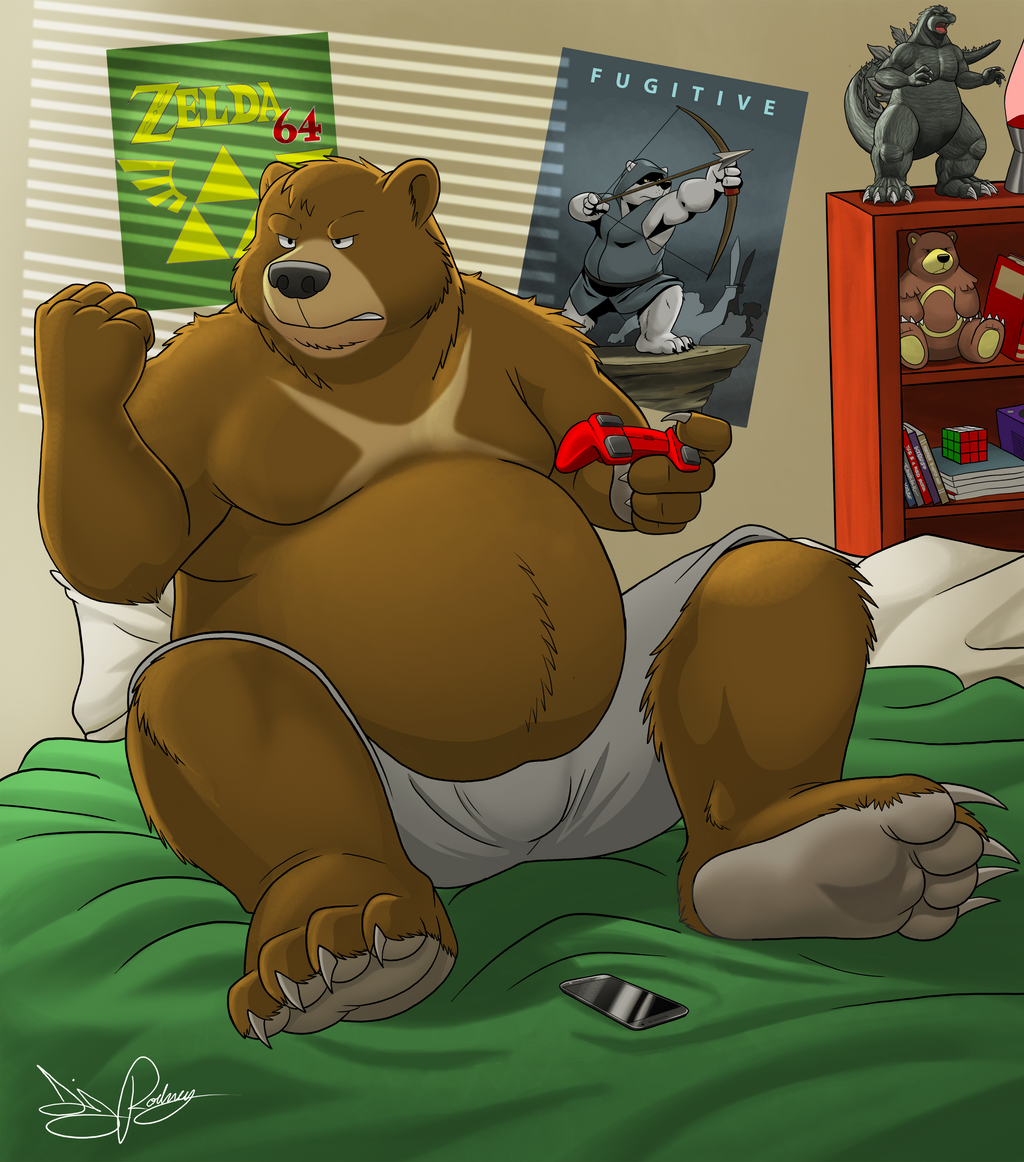 Gamer bear by Dj-Rodney