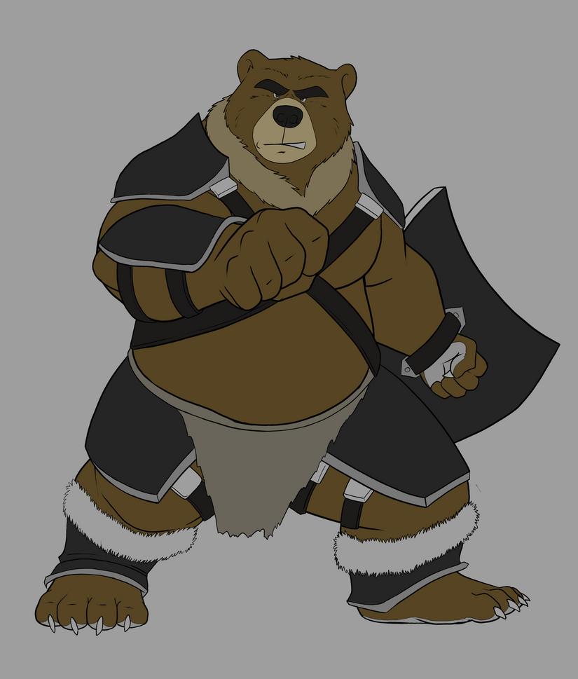 Bear warrior WIP by Dj-Rodney