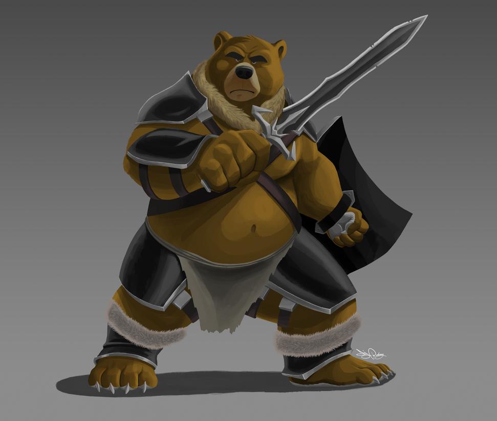 Bear warrior by Dj-Rodney