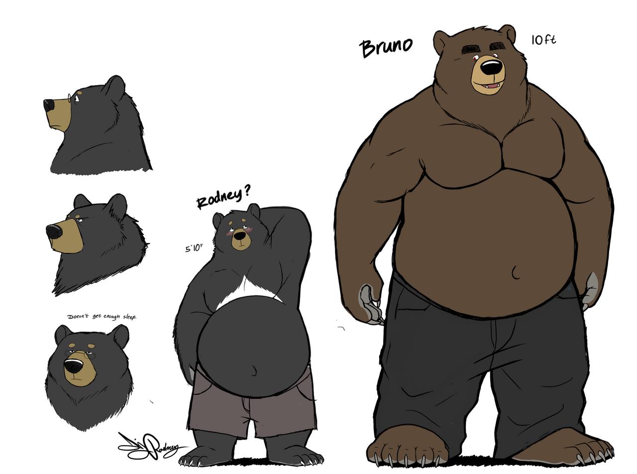 Black bear rodney by dj rodney on deviantart for Belly button bears wall mural