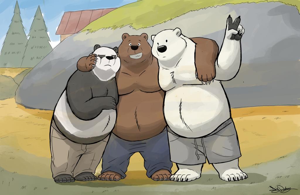 The Three Bare Bears by Dj-Rodney