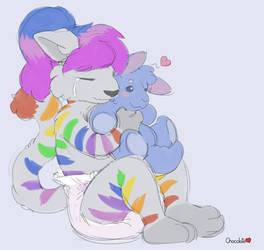 Sammy Plush Hugs by chocosune