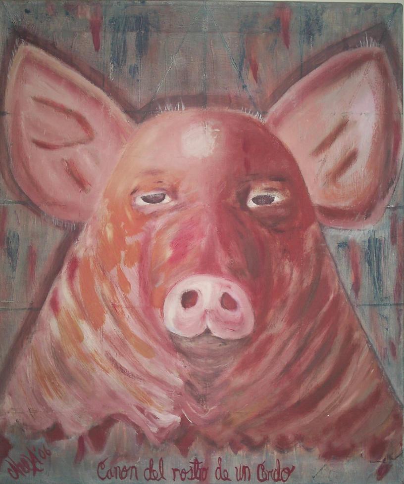canon del rostro de un cerdo by Caheva