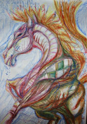 cheval arlequin
