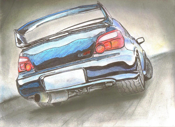 Subaru Sti By I Dont Do Art On Deviantart